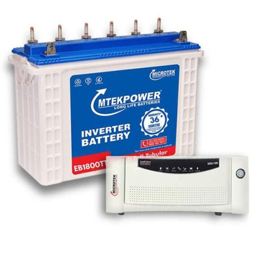 Microtek Inverter battery Combo 12VA -1800(150AH) + Sebz 1100 (12V) Sinewave