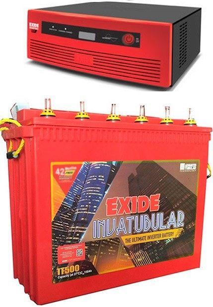 Exide Combo (Inva Tubular 500 + EXIDE 1050 sinewave UPS)
