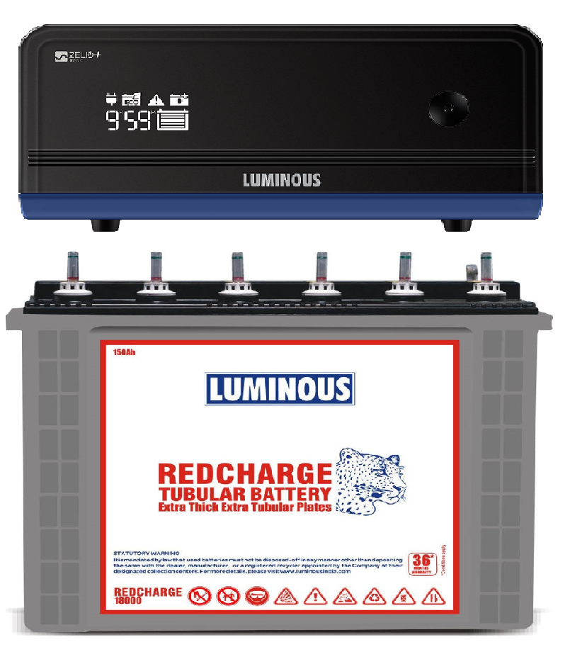 LUMINOUS ECO VOLT 1050 + RED CHARGE RC 18000
