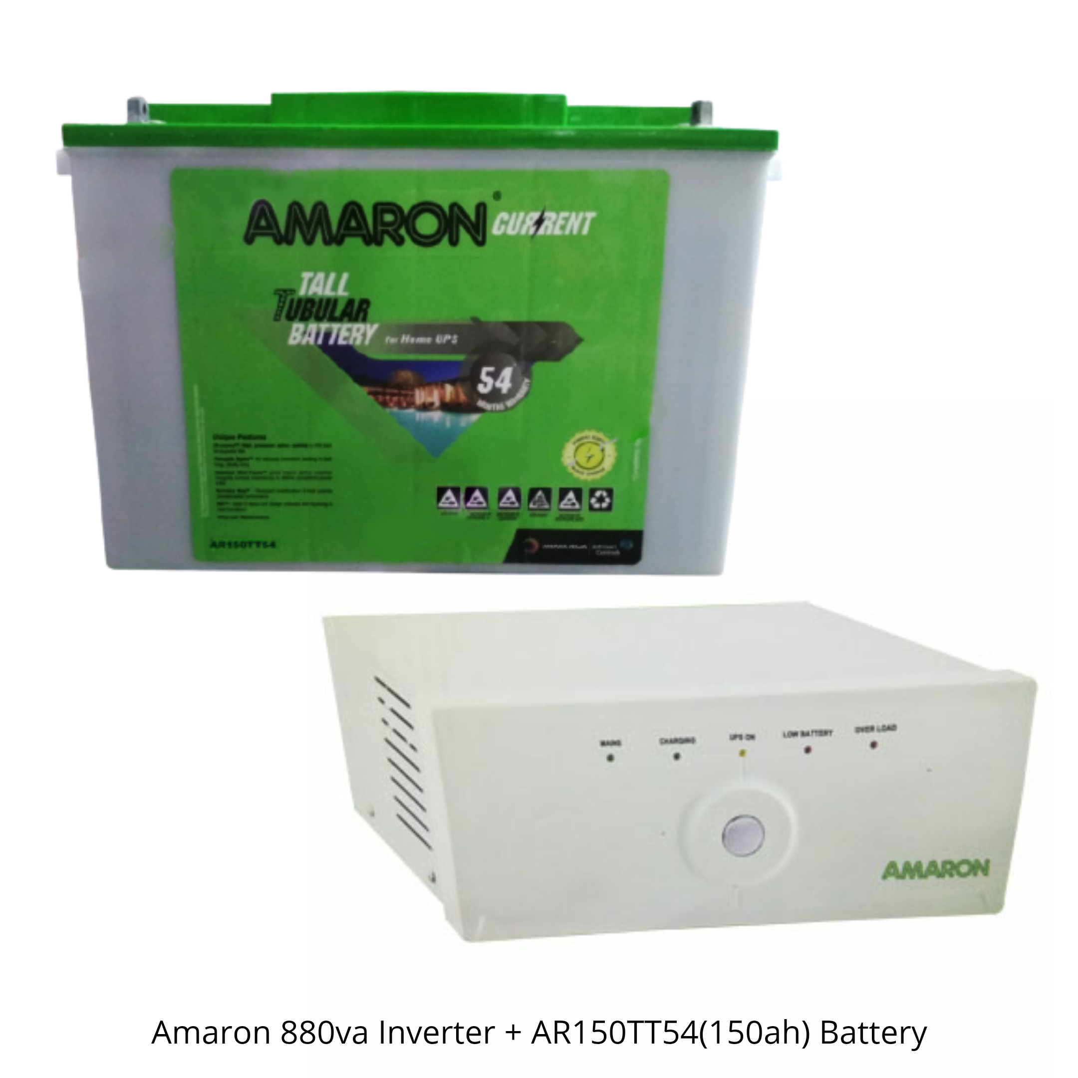 AMARON 880 SINE WAVE UPS AND AMARON AAM-CR-AR150TT54
