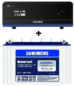 Luminous Combo (Luminous ILTT 25060 – 200AH Tall Tubular Battery + Zelio 1100VA UPS)
