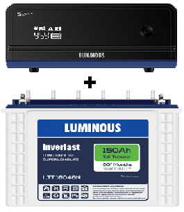 Luminous Combo (Luminous ILTT18048N – 150Ah Tubular Battery + Zelio 1100VA UPS)