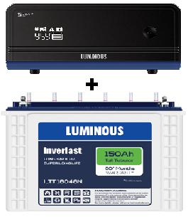 Luminous Combo (Luminous ILTT18048N – 150Ah Tubular Battery + Zelio 1100VA UPS)