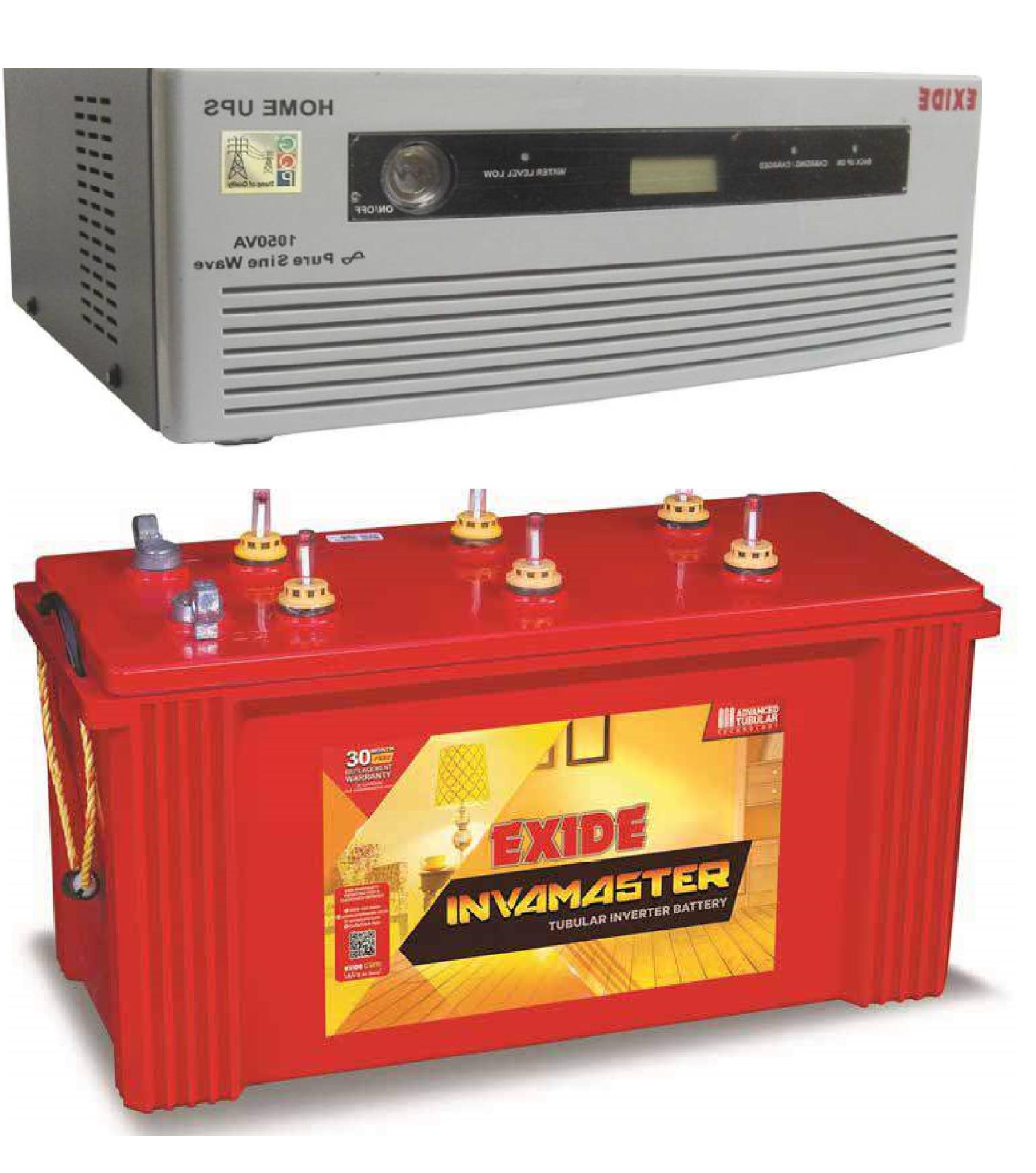 Exide Combo (Exide Inva Master IMTT 1500 + Exide 1050 VA sinewave UPS)
